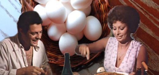 """Омлет из 24-х яиц из фильма """"Подсолнухи"""""""