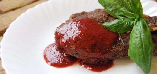 Соус из клубники и базилика к мясу