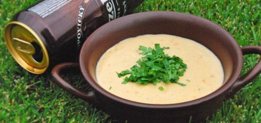 Суп с темным пивом и сыром