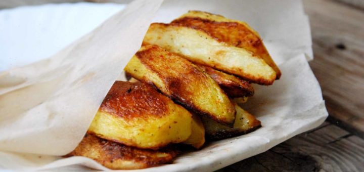 Хрустящий картофель в яичном белке