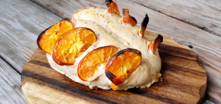 Куриная грудка с мандаринами